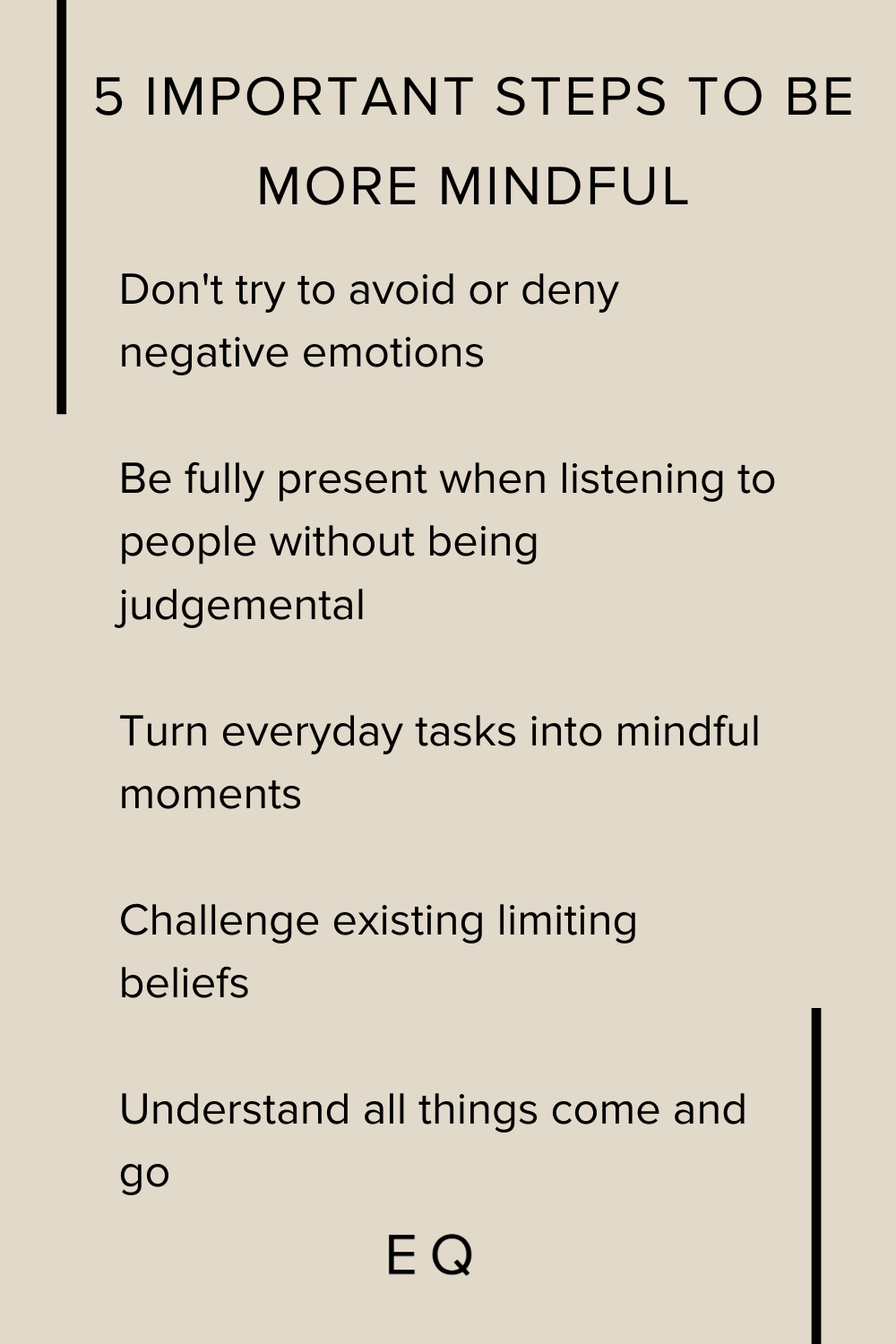 5 Important Steps to be more Mindful