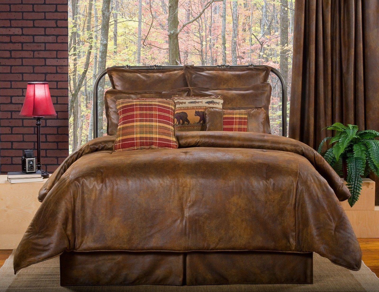 bedding sets cabin set cypress the cabins rustic comforter bears p