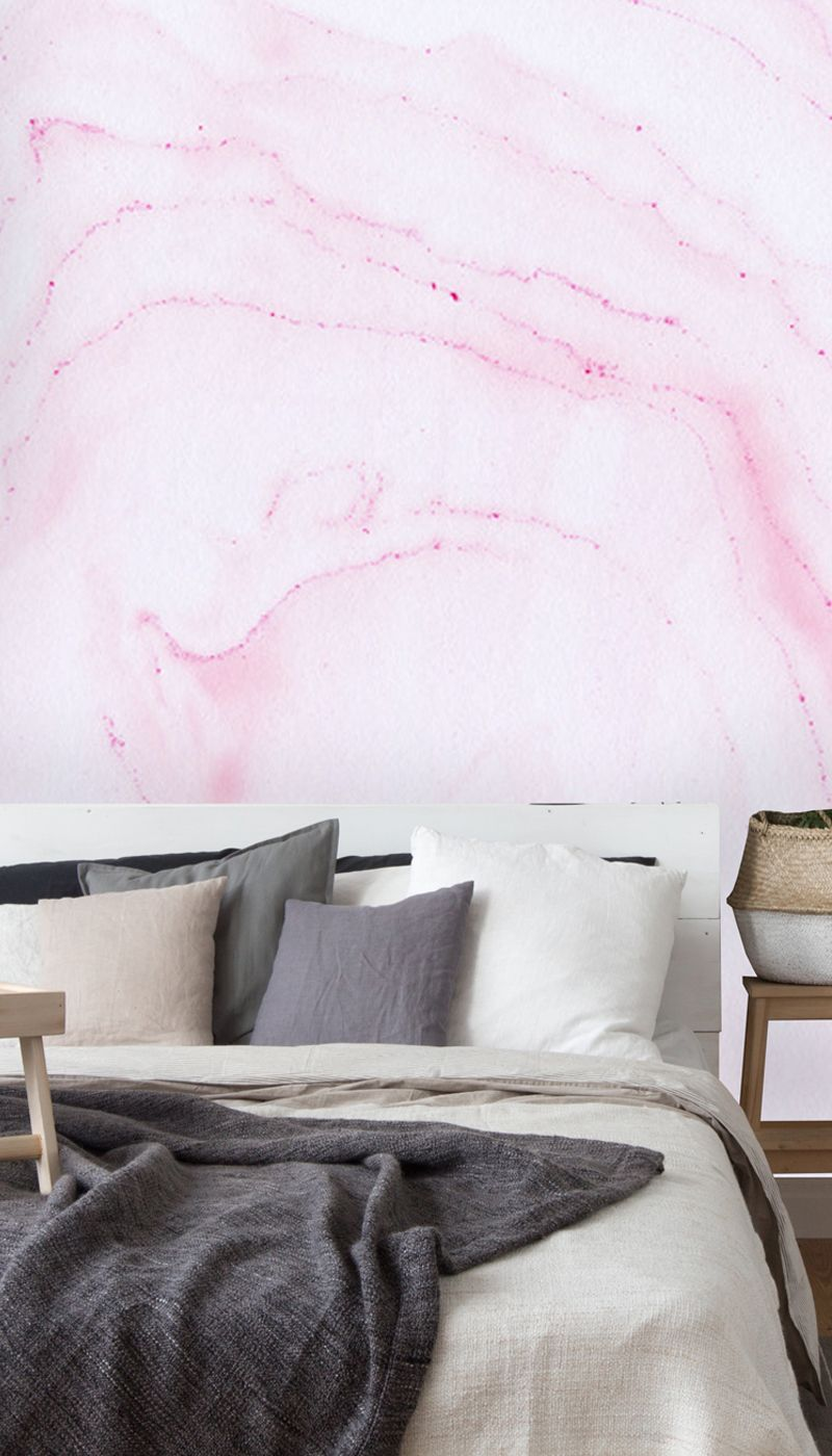 Hand Painted Red Ink Marble Wall Mural Wallsauce Us Marble Wall Mural Wall Murals Feature Wall Bedroom