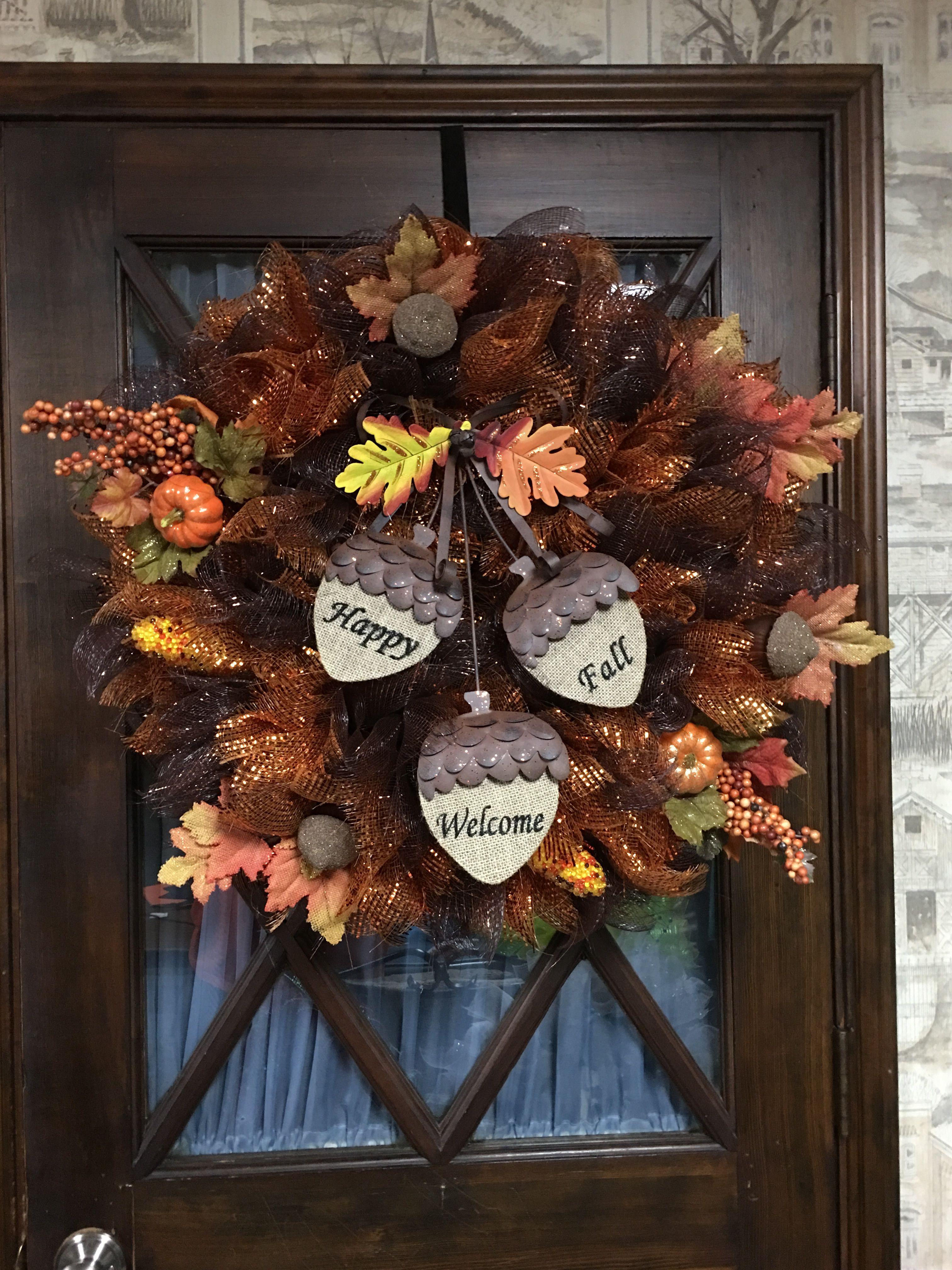 My fall wreath!