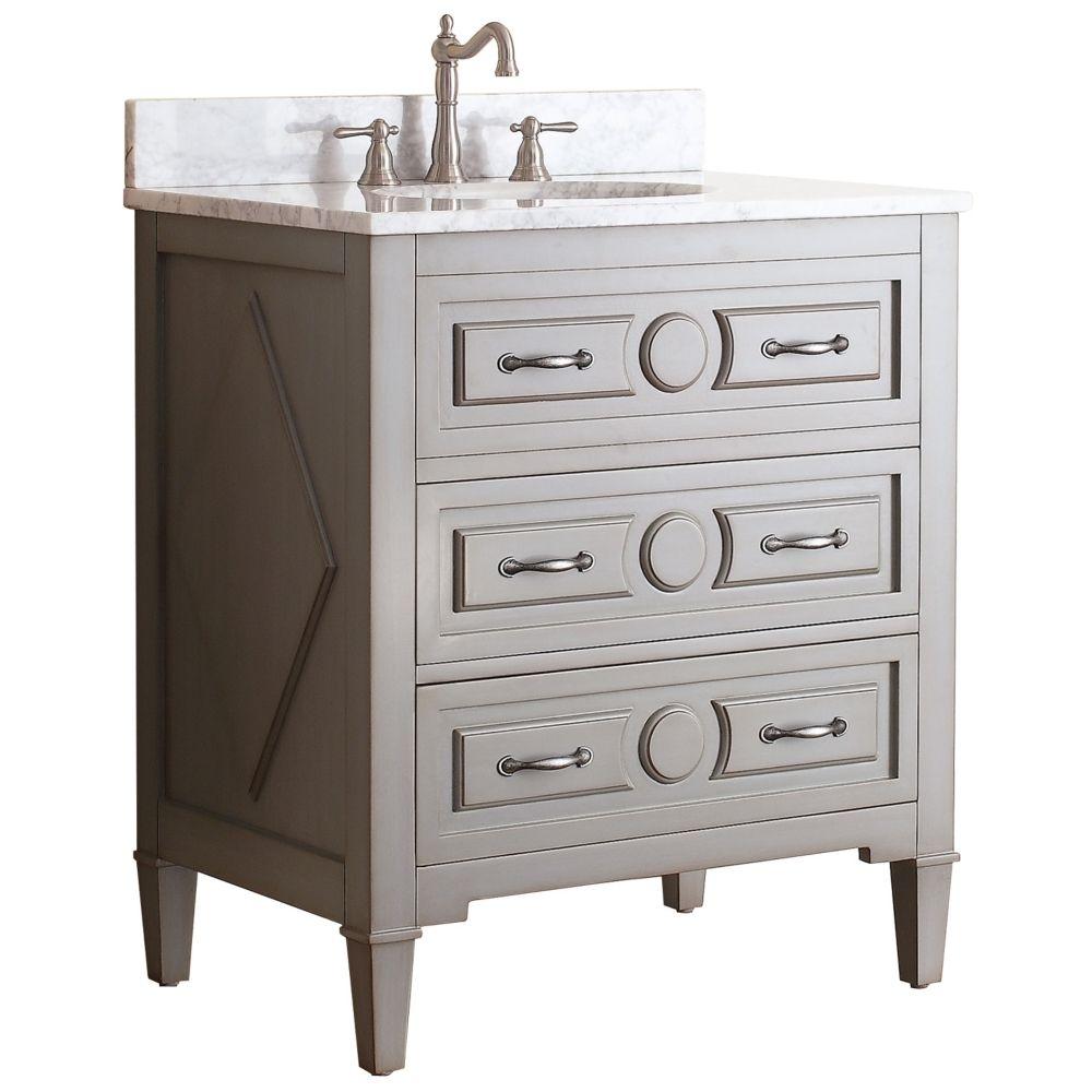 avanity kelly 30 white top grayish blue single sink vanity style rh pinterest com au