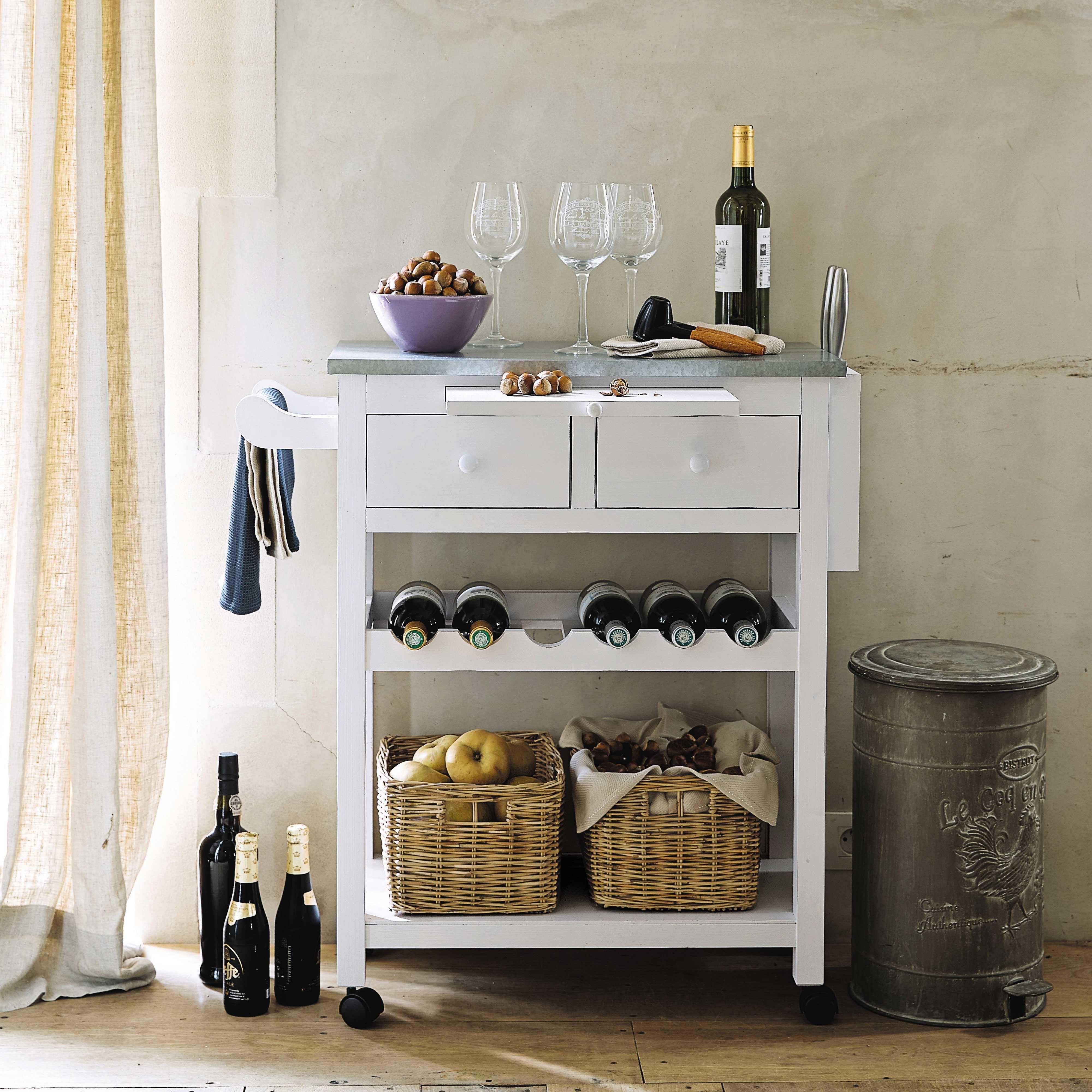 desserte en bois blanche l 82 cm sorgues maisons du monde maison de campagne pinterest. Black Bedroom Furniture Sets. Home Design Ideas