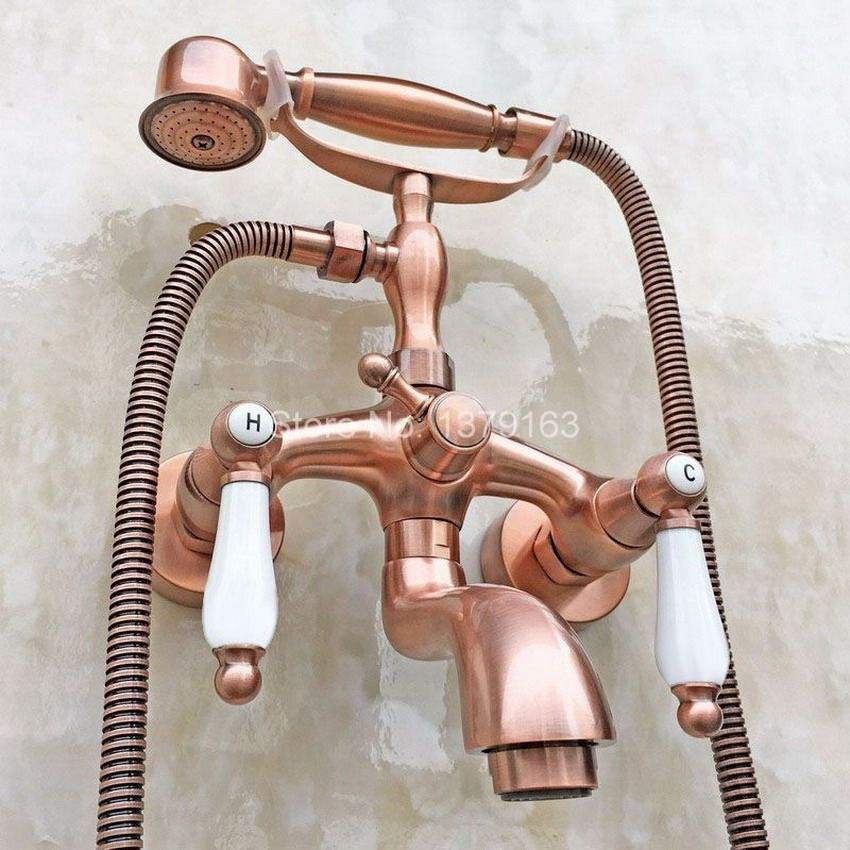 Claw Foot Tub Faucet Mixer Tap Set Telephone Style Handheld Shower