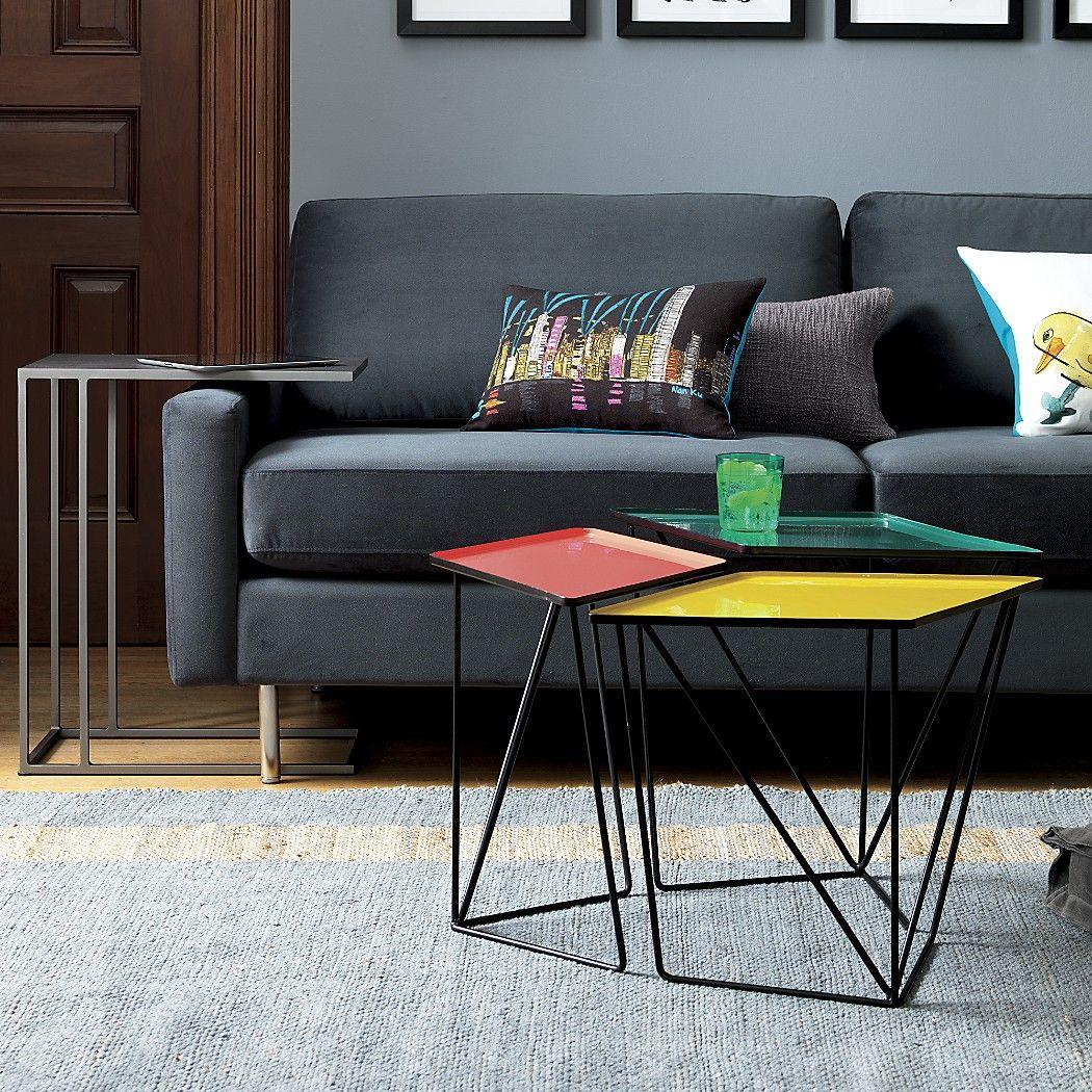 SAIC 4-piece paradox nesting table set  Modular coffee table