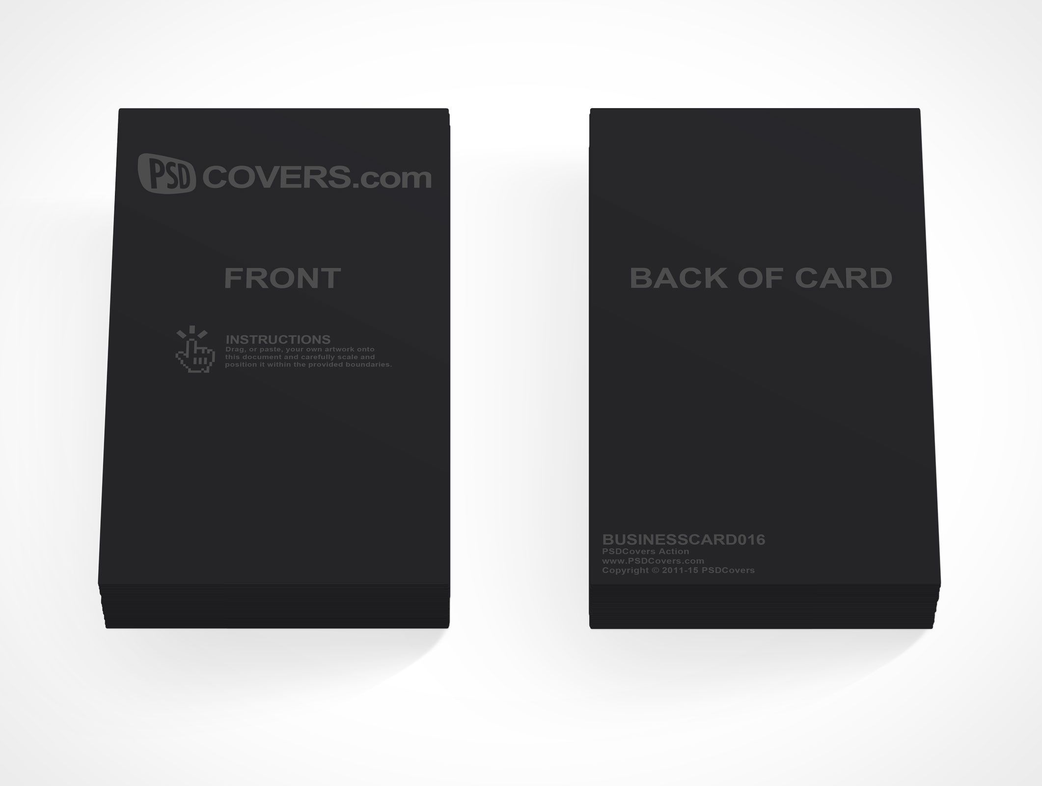 Is A Set Of Two Small Piles Business Cards Stacked Side By This Psd Mockup Renders Your Front And Back Card Designs On 2 Individual Stacks