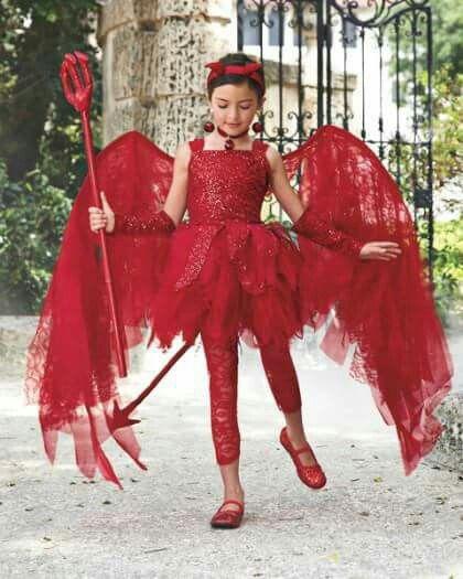 Diablita Disfraz halloween niña