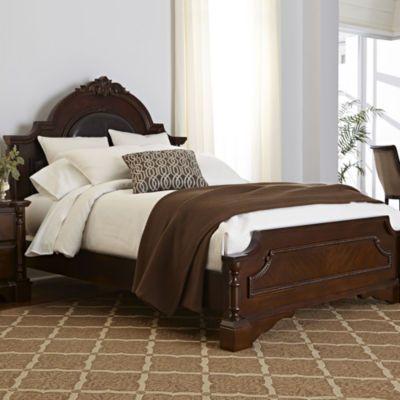 Renaissance Bed - JCPenney solid hardwood framewarm cherry ...