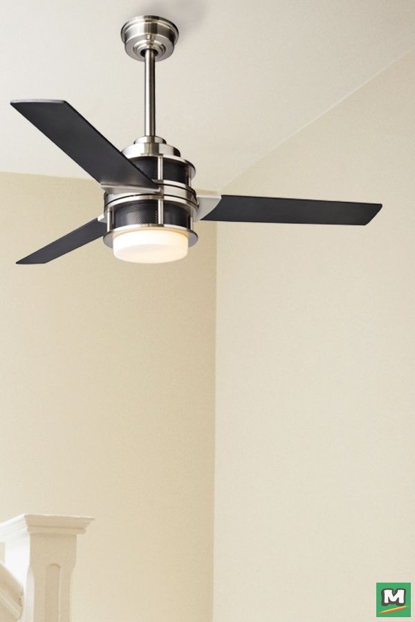 Turn Of The Century Ashton 52 Ceiling Fan With Brushed Nickel