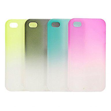 Gradiente volta caso transparente colorido para iPhone 5/5S (cores sortidas) – BRL R$ 10,30