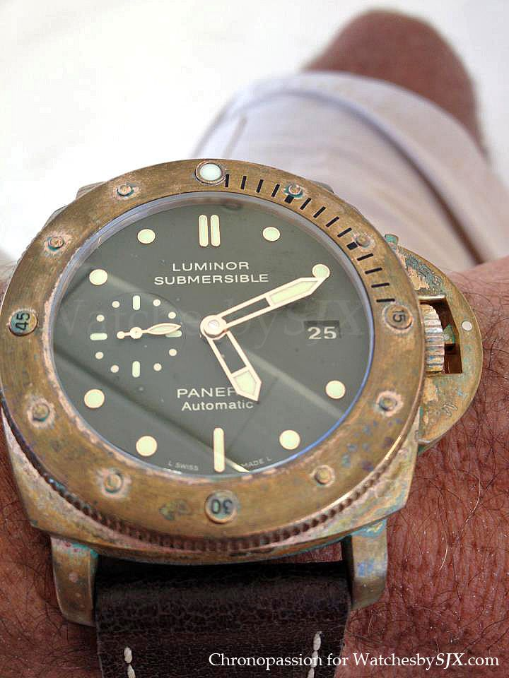 Panerai Bronzo PAM382 with exceptional patina after just 10 days