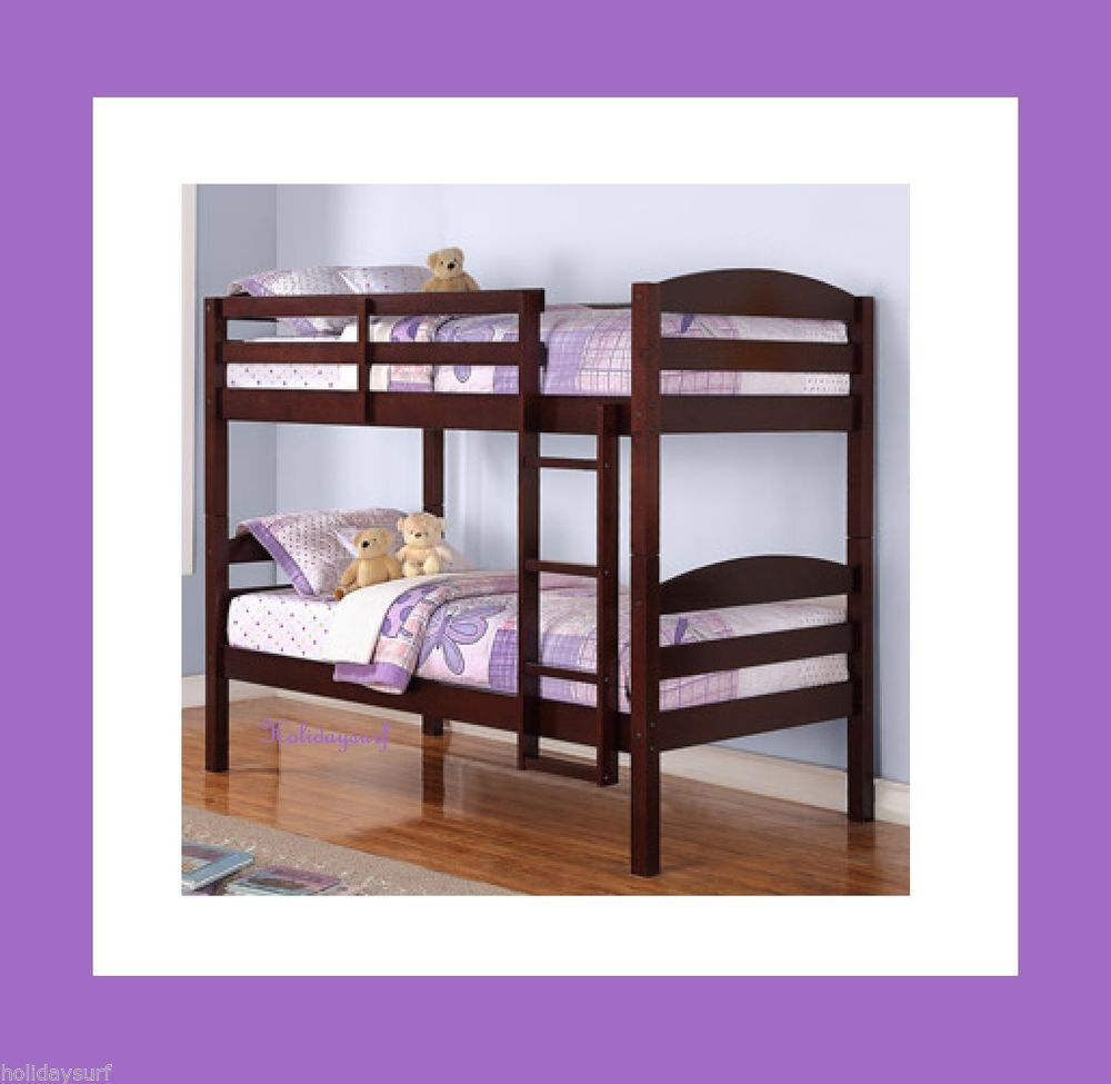bunk beds espresso converts into two twin beds day returns brand de maderanios
