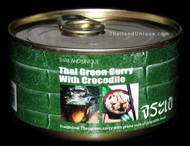 Canned Crocodile in curry sauce ile ilgili görsel sonucu