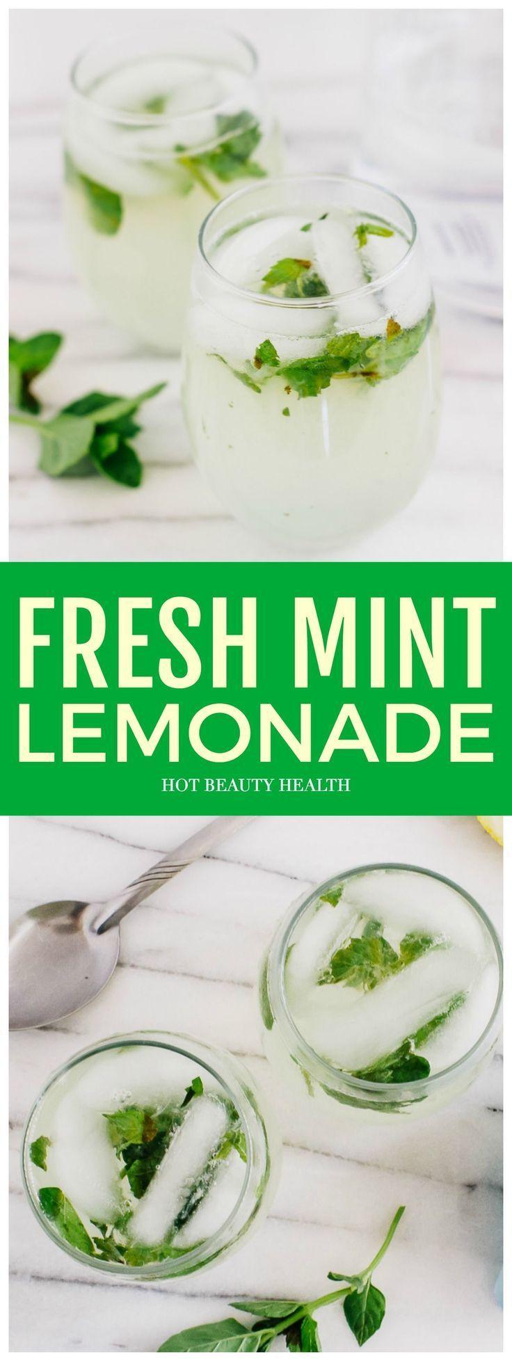 Fresh Mint Lemonade Recipe #easylemonaderecipe