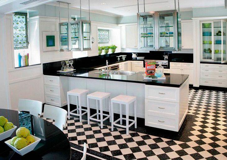 Cocinas modernas en blanco y negro Kitchen Pinterest Cocina