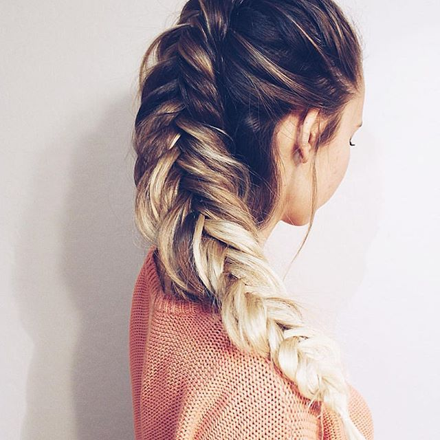 I love this Dutch fishtail and the hair color! 😍❤