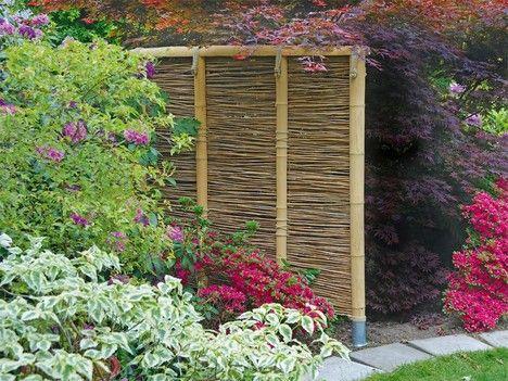 Sichtschutz oder Rankhilfe aus Bambus ganz einfach