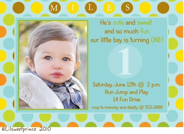 Download 1st Birthday Invitations Ideas for Boys FREE Printable - free first birthday invitation template