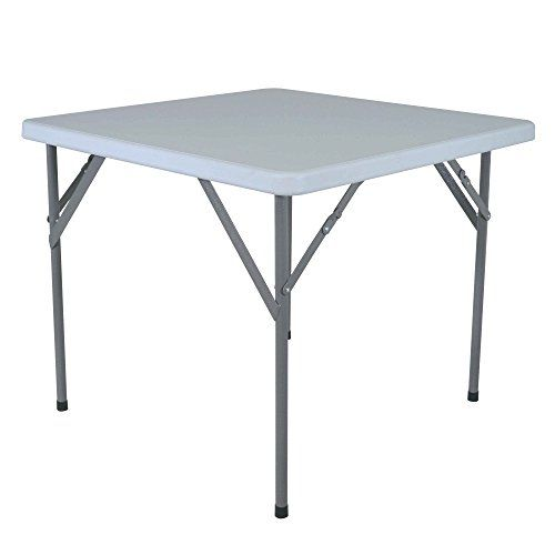 Titan Outdoors Square Portable Plastic Table 3 X 3 Inch Plastic
