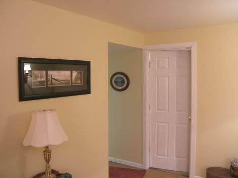 Sherwin Williams Jersey Cream In A Very Low Light Room
