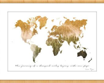 Wanderlust print world map world map wall art world map poster wanderlust poster world map nature photography travel large digital photography print quote gandhi art print home gumiabroncs Gallery
