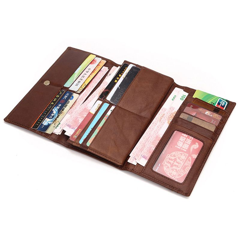 New Pocket PU Leather Business ID Credit Card Holder Case Wallet LD