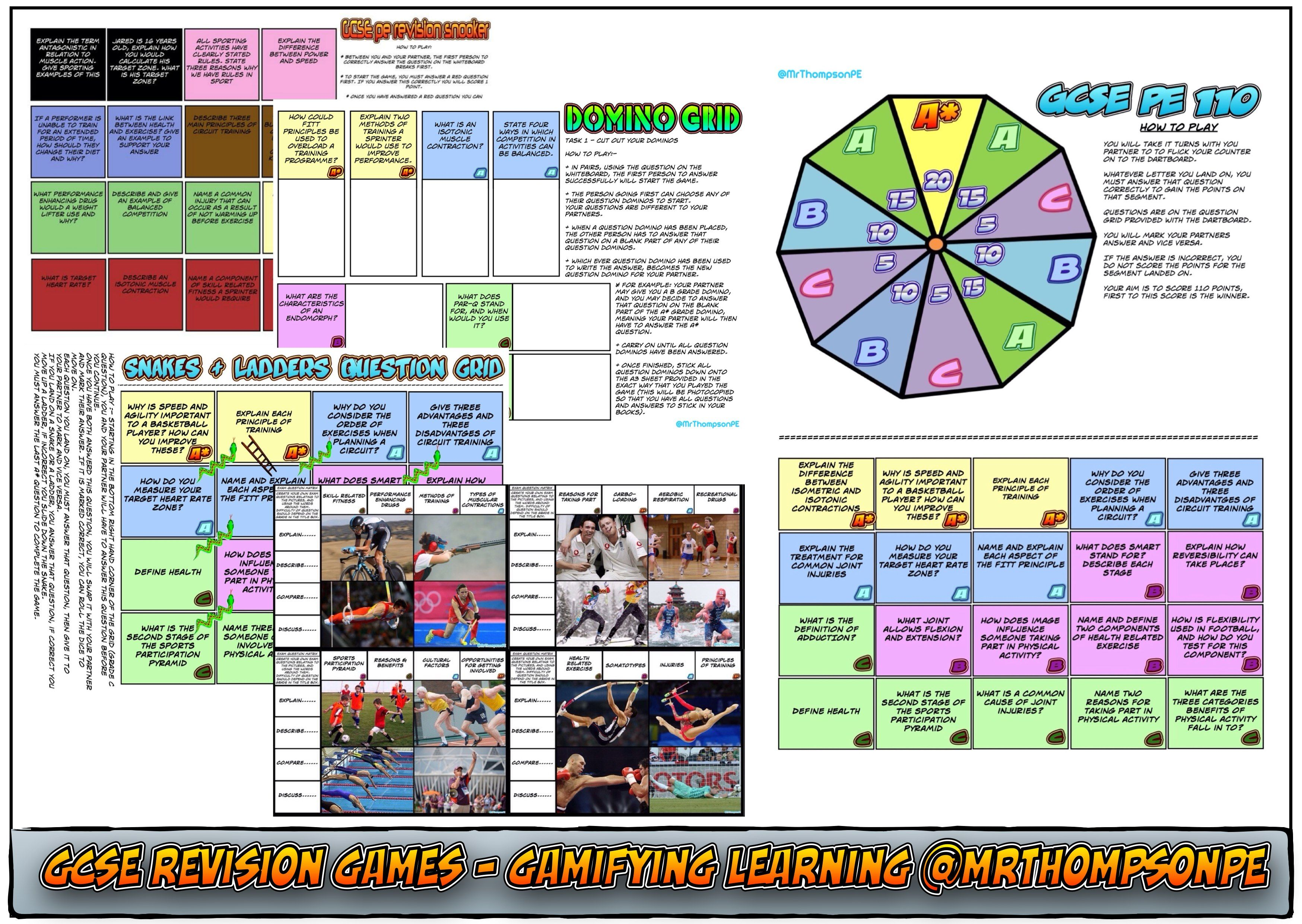GCSE PE and A Level PE Revision Games and Resources | Gcse pe ...