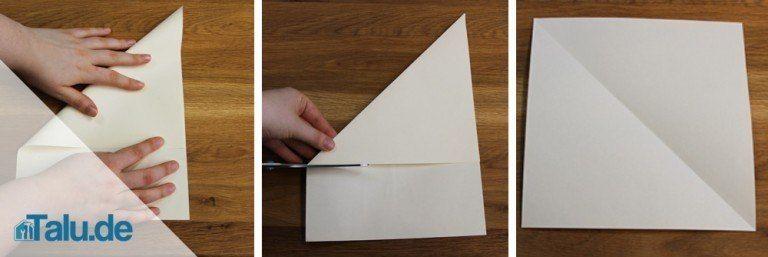 Papier Falten Fingerspiel