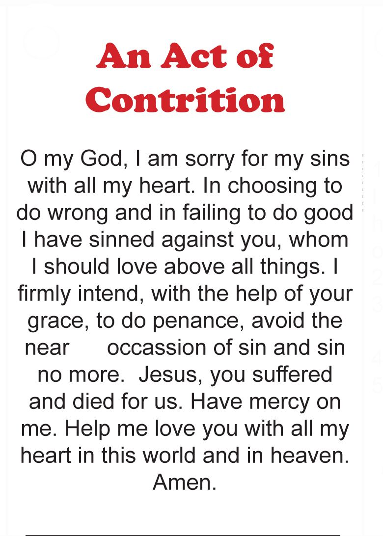 image regarding Act of Contrition Prayer Printable identify Act of contrition - wikipedia, the totally free encyclopedia, An act