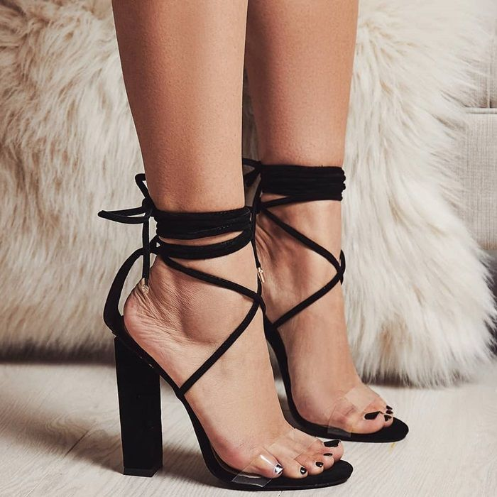 dad19c99c10 Don t miss these  Bello  perspex lace up block heels on Your Next Shoes!