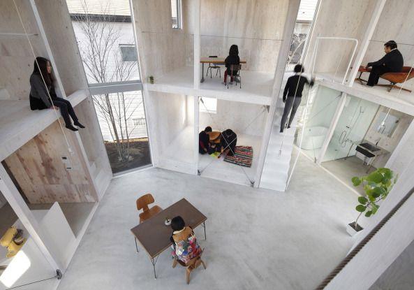 Famili rer zusammenhalt container wohnhaus in japan architektur mobile und modulare - Japanische innenarchitektur ...
