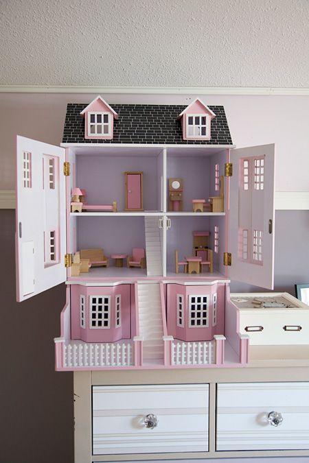 Emma s room little girl 39 s bedroom adorable doll house design and kids decor pinterest - Adorable dollhouse bookshelves kids to decorate the room ...