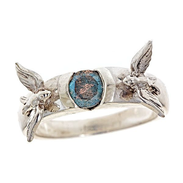 The Original Love Birds Solitaire Engagement Ring Labradorite