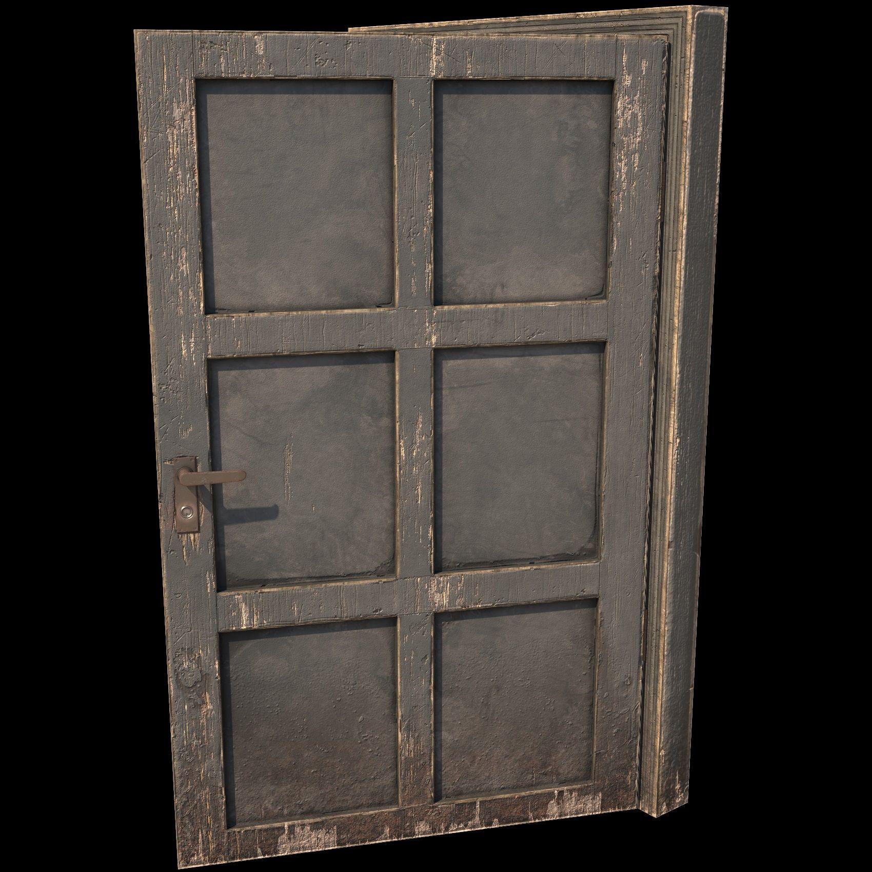 Low Poly Wooden Door In 2020