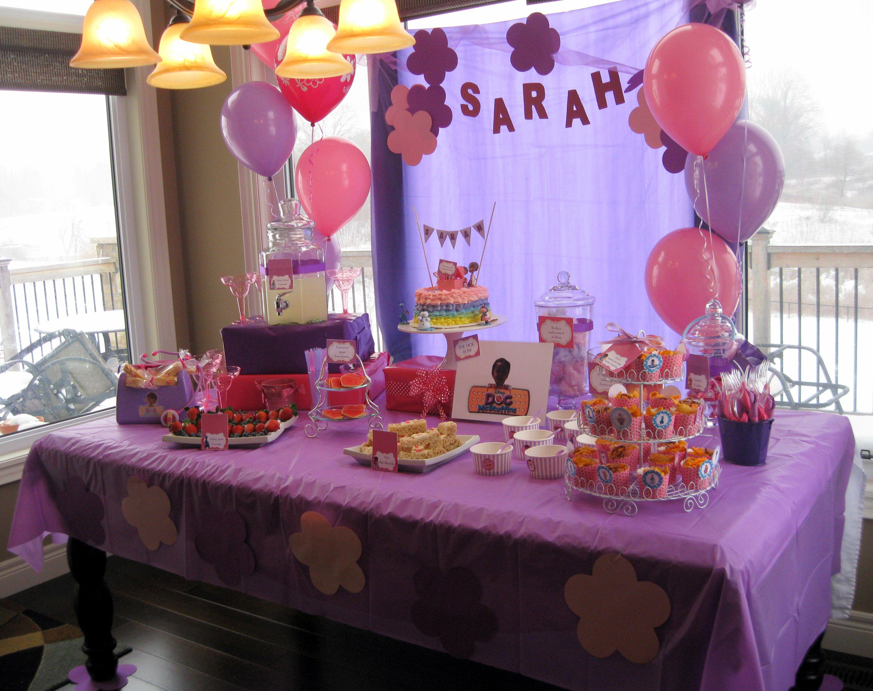 Doc Mcstuffins Birthday Party Table Decor Kyndall S 3rd Birthday