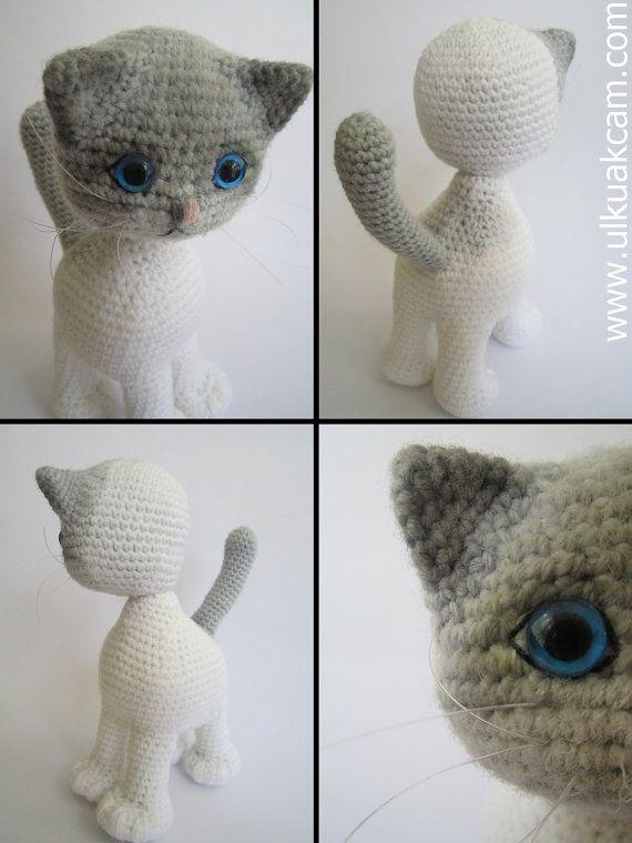 Amigurumi Jointed Cat Pattern | Pinterest | Patrones, Diademas de ...