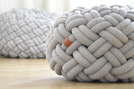 Gevlochten Knotty Poef : Mini knotty 6.jpg 570×380 pixels ottoman pinterest battaniye