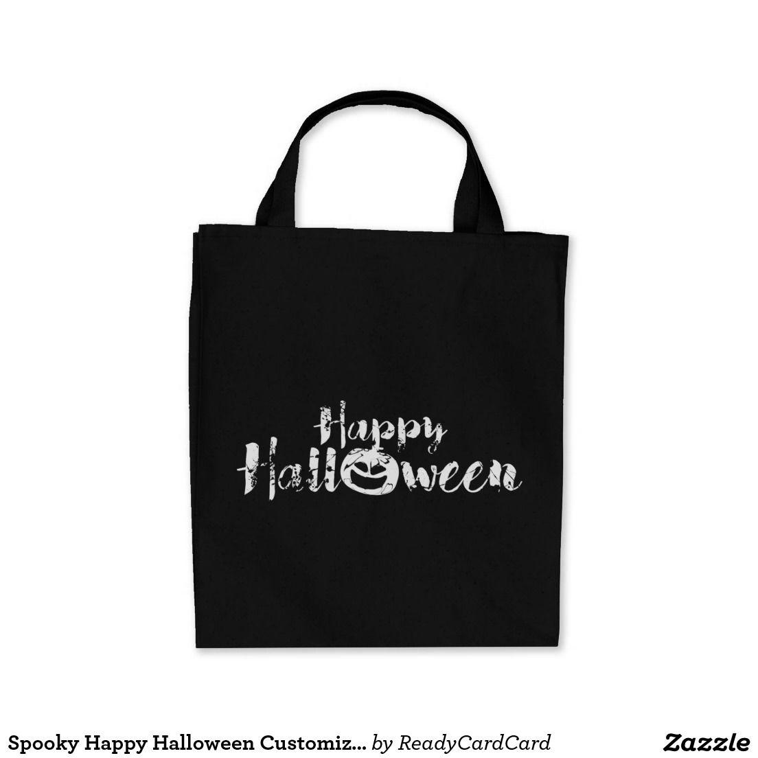 Spooky Happy Halloween Customizable Tote Bags