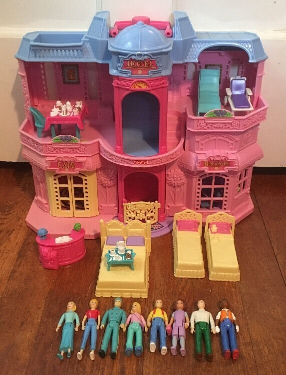 fisher price sweet streets hotel motel doll house furniture people rh pinterest com