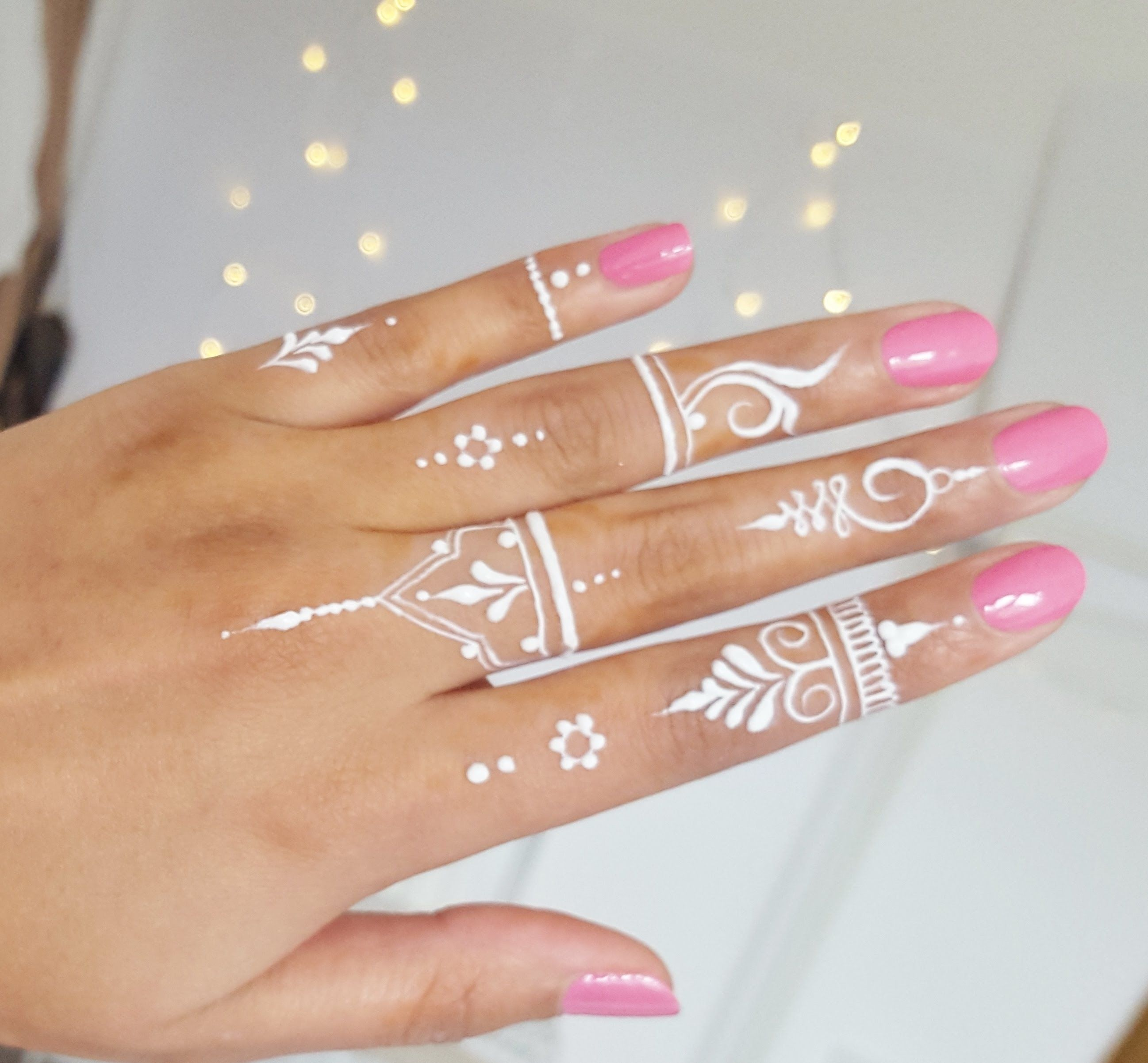 Henna Tattoo Ring Designs: How To: White Henna Tutorial