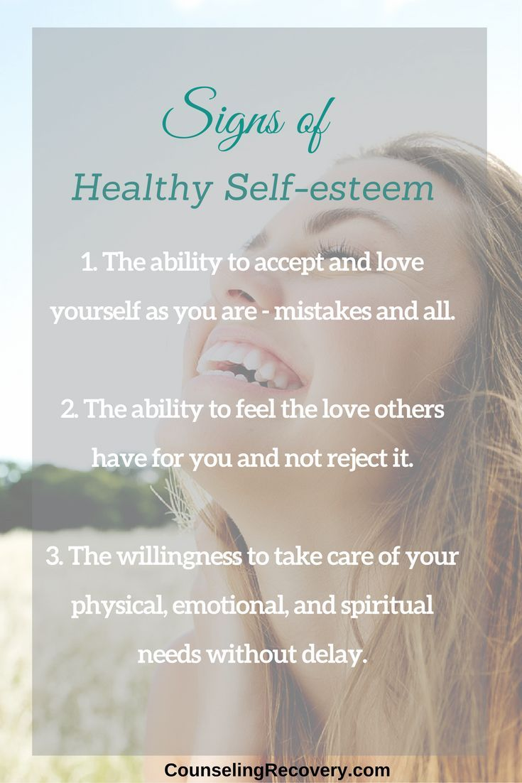 How to improve self esteem in relationships