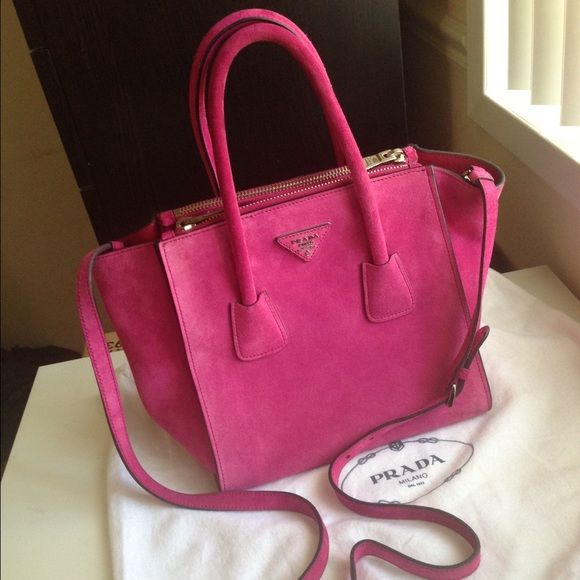 dadbbda82bf Prada Suede Twin Pocket Tote Like new condition, only a small stains in as  shown