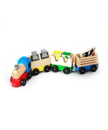 Loving this Melissa & Doug Wooden Farm Train Toy on #zulily! #zulilyfinds
