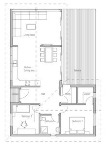 Small House Ch217 Small House Plans House Plans L Shaped House Plans