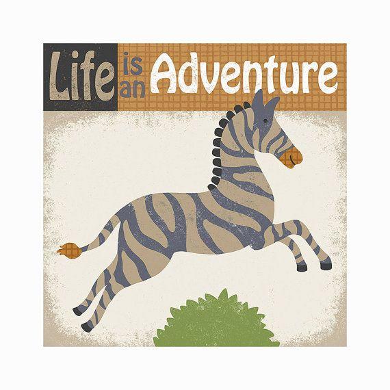 Adventurous Zebra Art Print