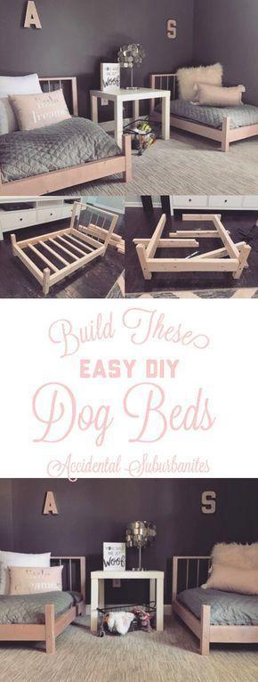 Dog bed DIY ideas for large dogs pallet DIY furniture ideas building plans dog b… – 2019 Pallet ideas