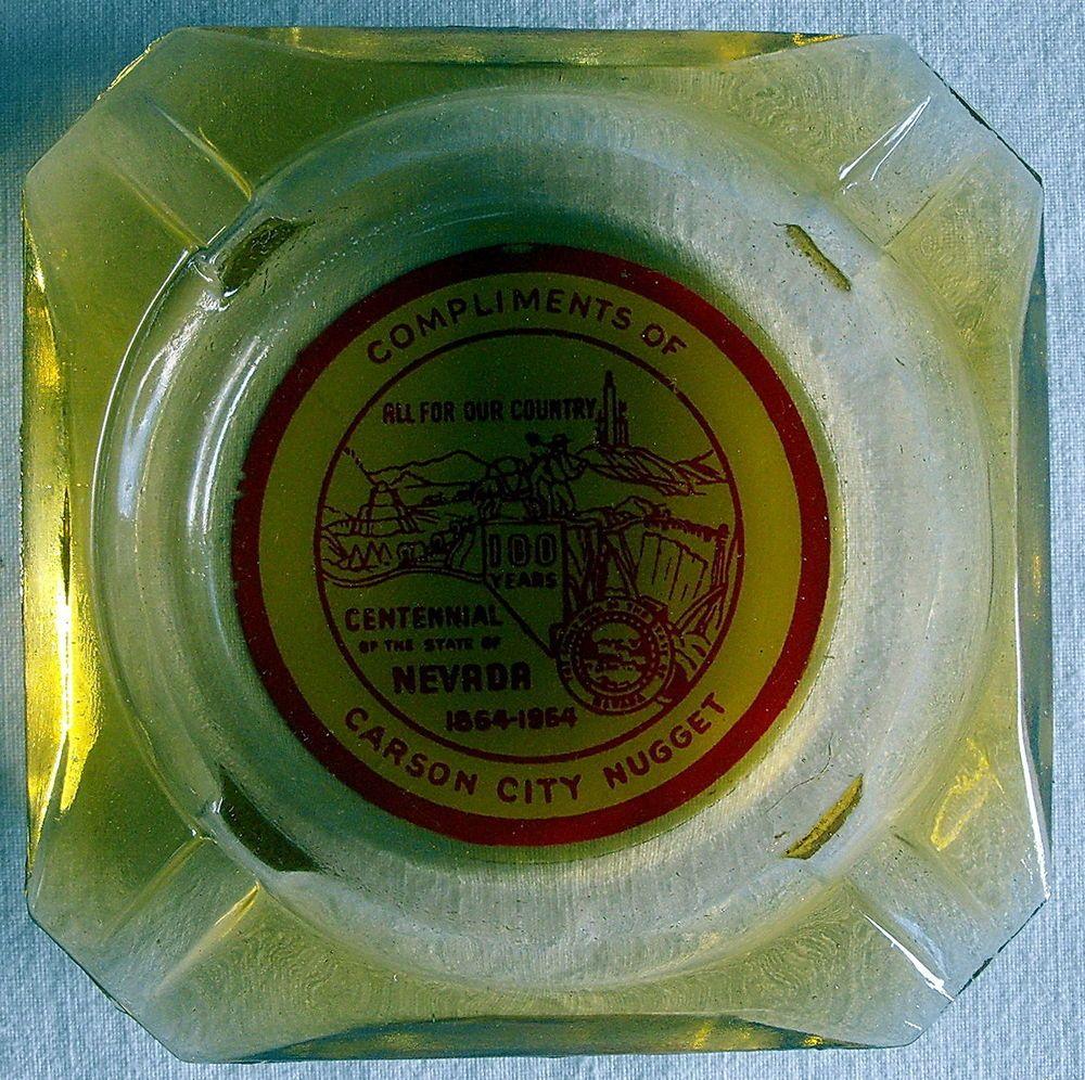 Carson City Nugget Nevada Centennial 1964 Vintage Amber