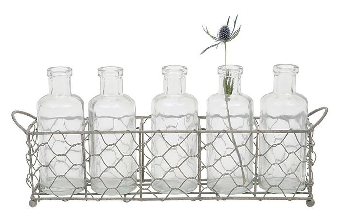 6-Piece Wendy Bottle & Tray Set