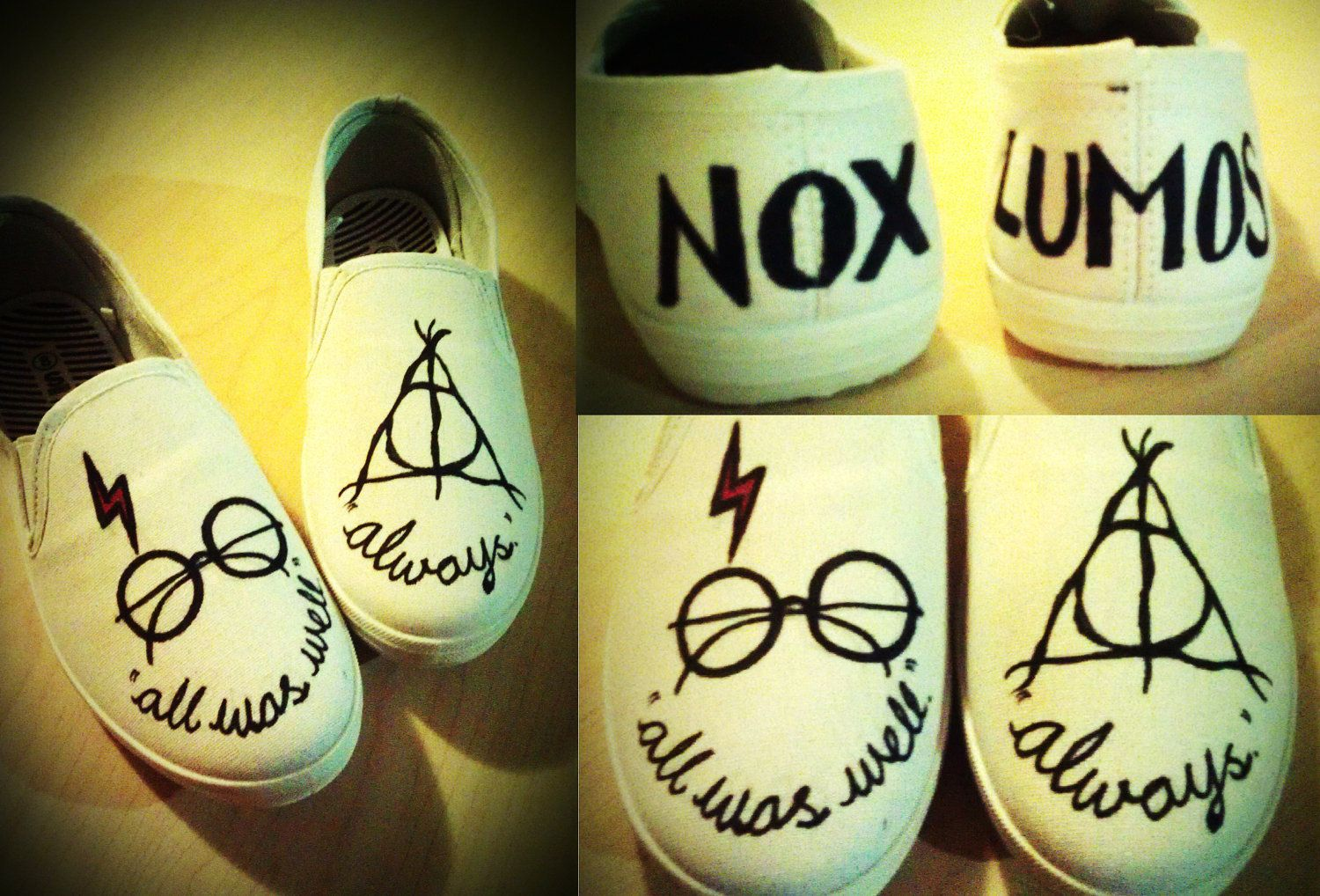 9bc1a368ff66 HARRY POTTER Inspired Customised Canvas Shoes..  40.00