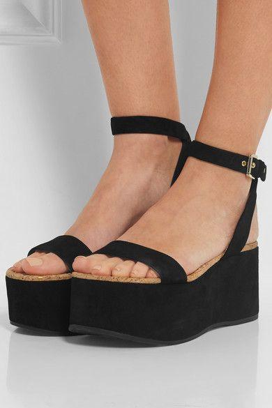 f6da4378e439 Smart Buy  Sam Edelman Suede Platform Sandals
