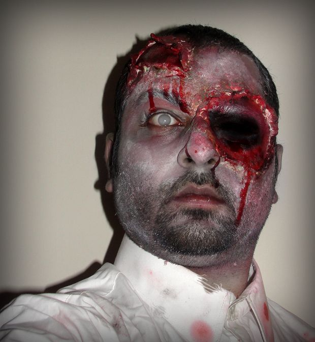 Zombie Makeup Tutorial using Liquid Latex and Toilet Paper ...